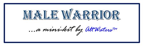 Male Warrior Banner